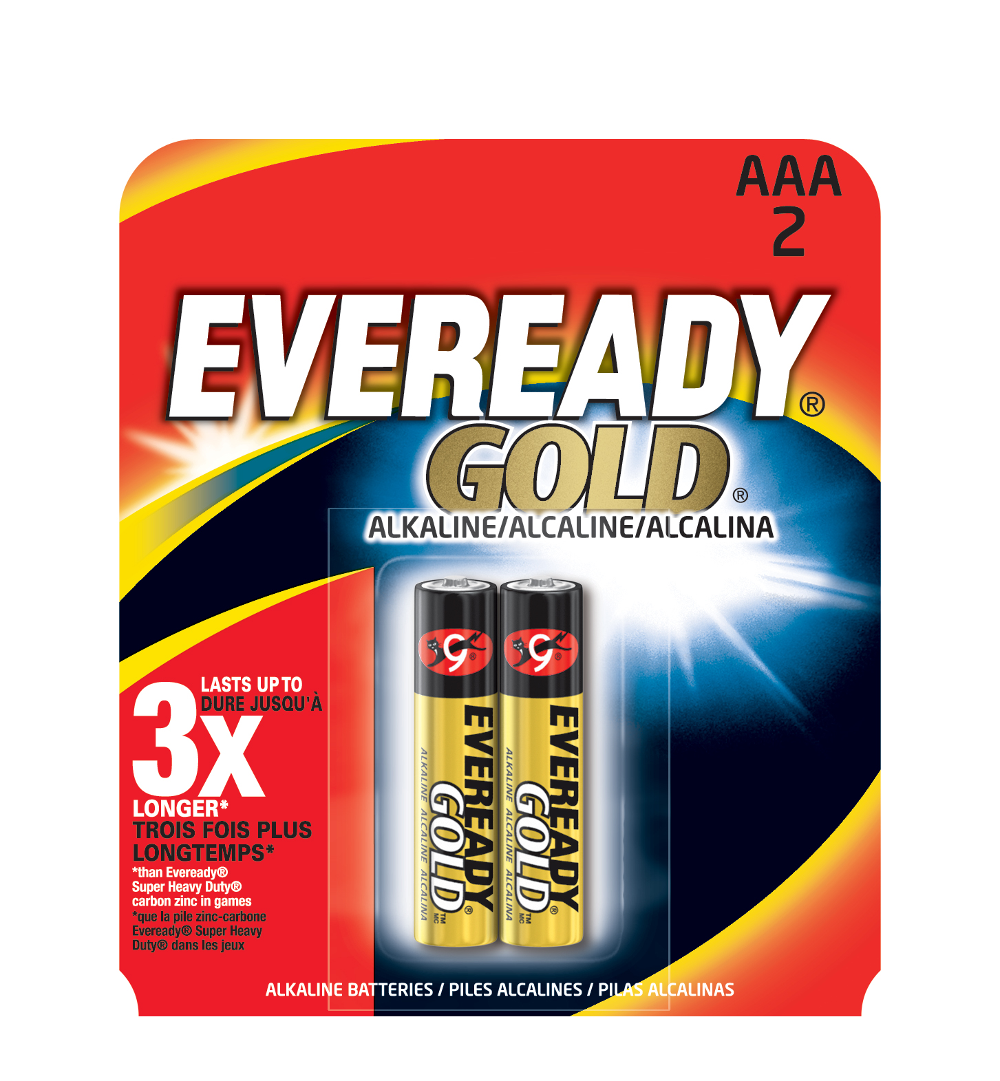 Eveready Gold AAA Batteries